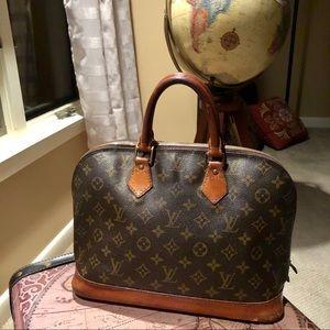 Louis Vuitton Alma Purse LV Print Handbag Purse